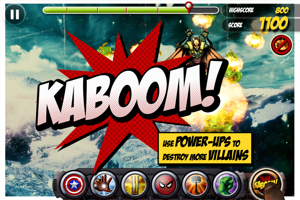 Screenshot Marvel KAPOW!