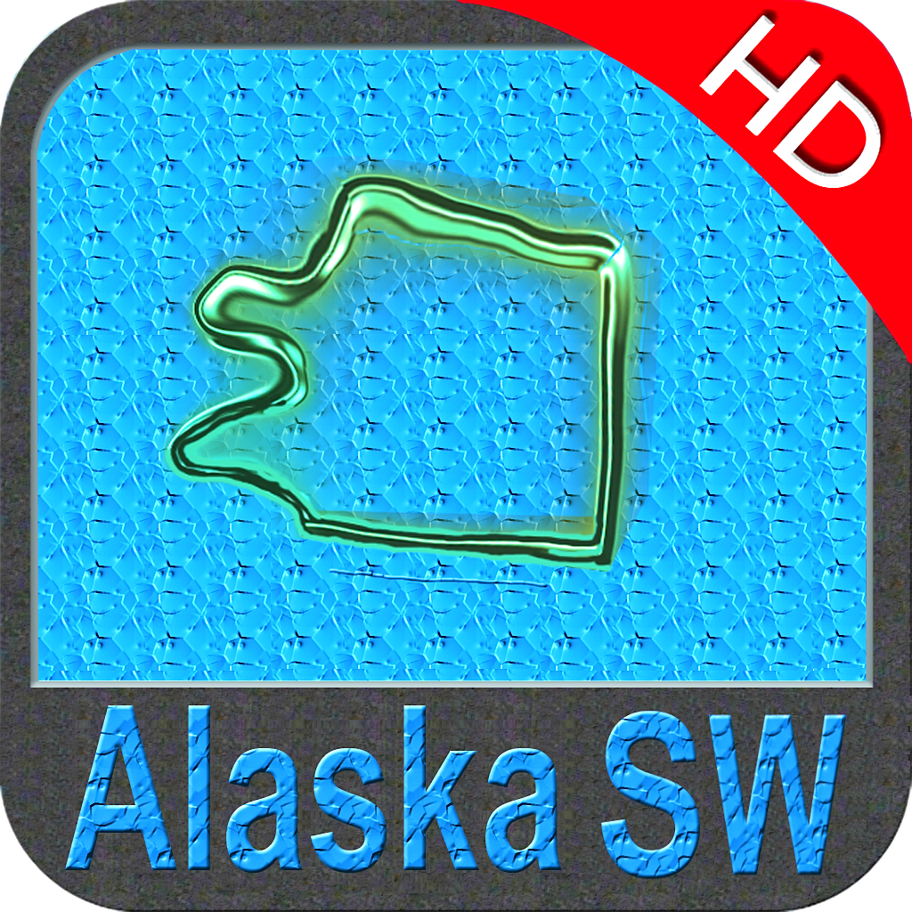 Alaska (SW) nautical chart HD